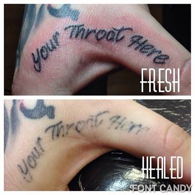 Die Schwierigen Stellen Perforations Tattoo